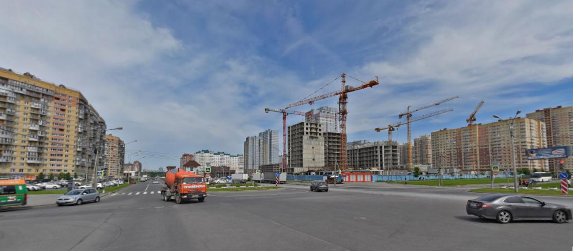 """Теперь вестибюль """"Яхтенной"""" будет строиться рядом с пересечением улиц Туристской и Оптиков. Фото Скриншот/ Яндекс.Карты"""