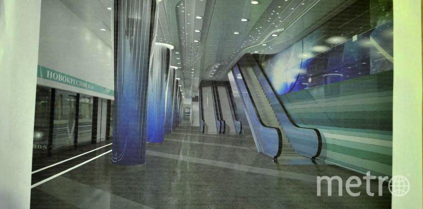 """Строящаяся станция """"Новокрестовская"""". Фото """"Metro"""""""