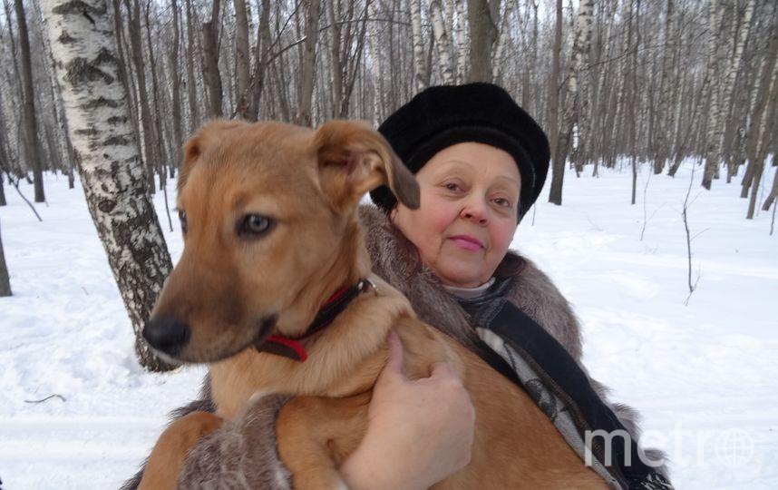 Нина Сорокина и щенок. Фото предоставила семья Сорокиных