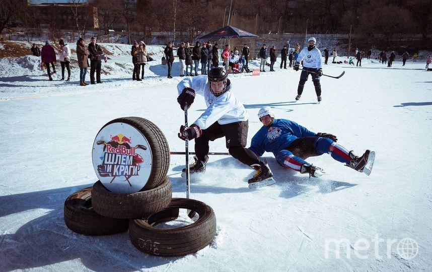 Первыми на лёд вышли хоккеисты Владивостока. Фото Getty