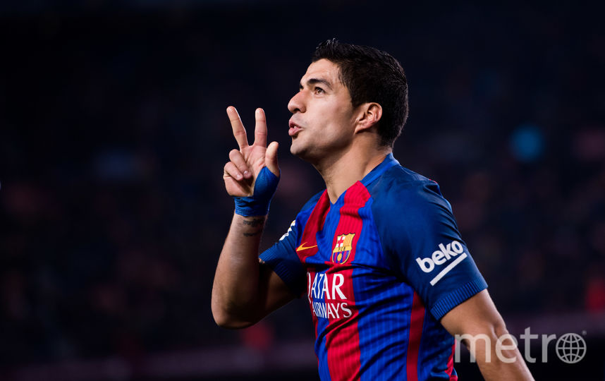 "Нападающий ""Барселоны"" Луис Суарес. Фото Getty"