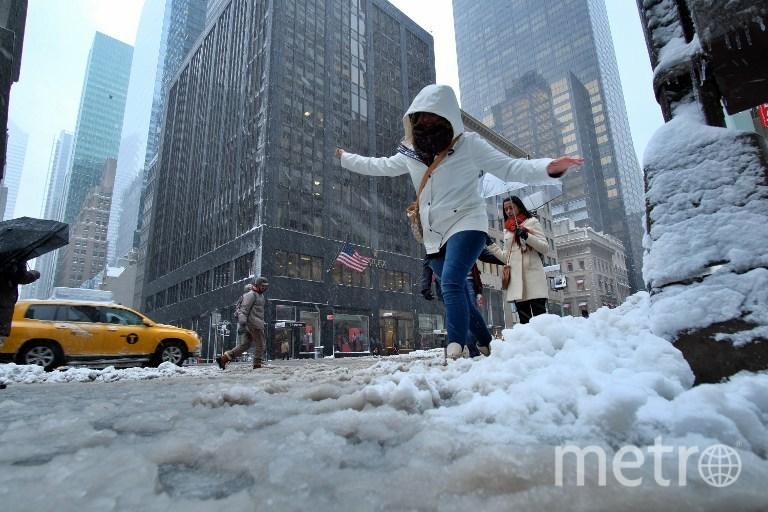 Навосточное побережье США обрушился снегопад