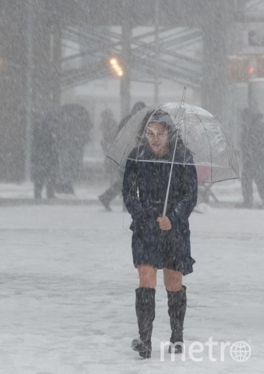 Снегопад в Нью-Йорке. Фото AFP