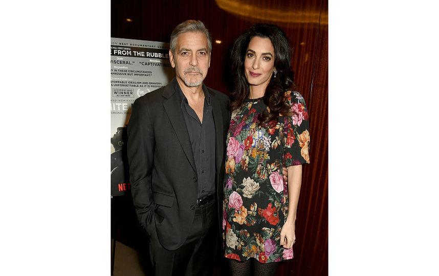 Джордж и Амаль Клуни в конце января в Лондоне. Фото Getty