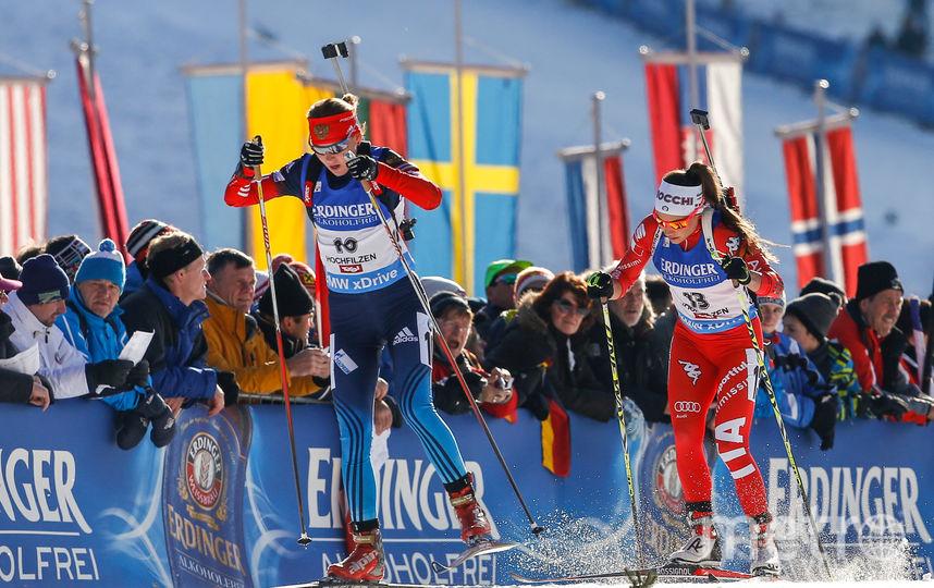 Российская биатлонистка Глазырина. Фото Getty