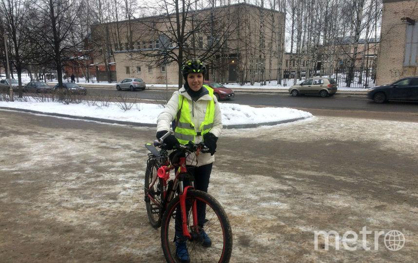 """""""На работу на велосипеде"""". Фото предоставлено Евгенией Ивановой"""