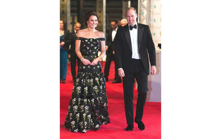 Кейт Миддлтон с супругом на премии BAFTA-2017. Фото Getty