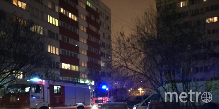 Cотрудники экстренных служб устранили огонь вмногоэтажке наАвангардной