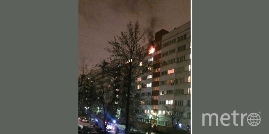 Ночью наАвангардной горела квартира надевятом этаже