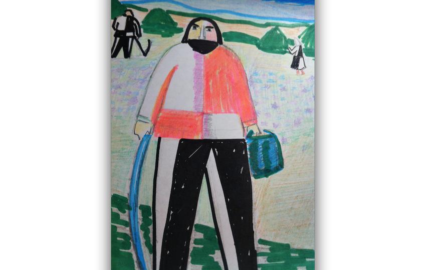 Копия картины Малевича. Фото Попова Татьяна