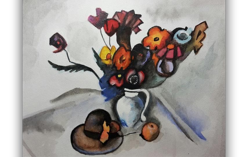 Копия картины Александра Куприна «Натюрморт со шляпой» 1917 г. Фото Мамонтова Ирина