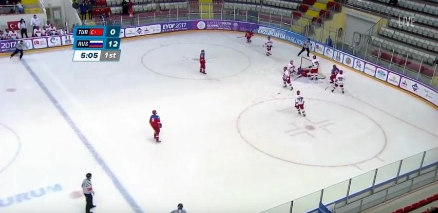 Российские хоккеисты забили туркам 42 гола. Фото скрин-шот Youtube
