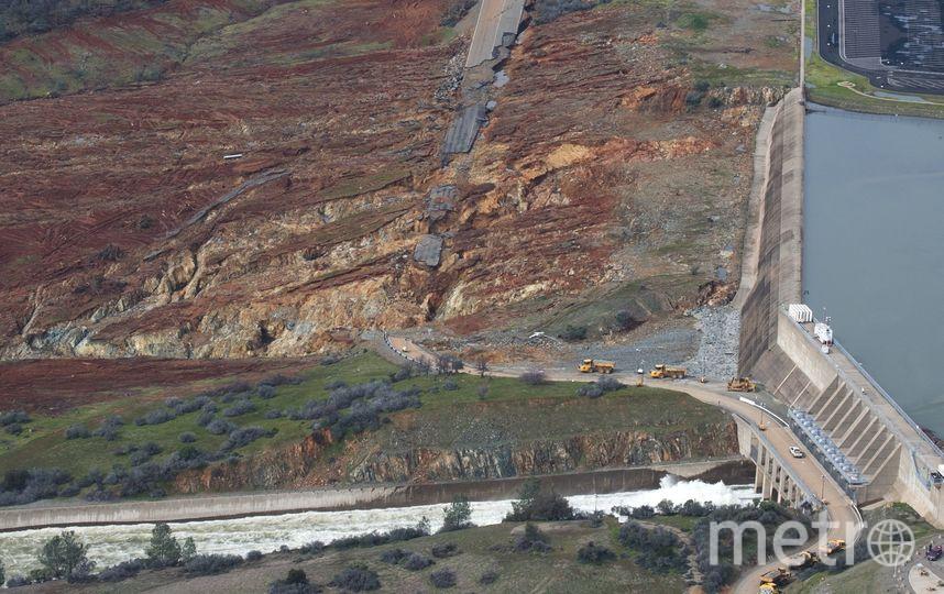 Прорыв плотины в Калифорнии. Фото Getty