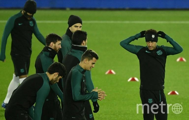 """Тренировка ФК """"Барселона"""". Фото AFP"""