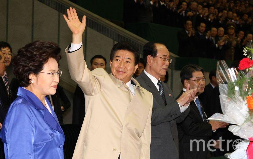 Ким Чен Нам, сводный брат Ким Чен Ына (в центре). Фото Getty