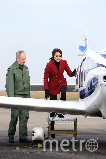 "Кейт Миддлтон на базе RAF Air Cadets. Фото ""Metro"""
