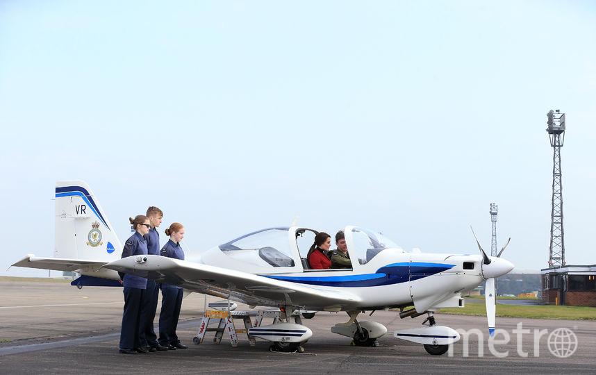 Кейт Миддлтон на базе RAF Air Cadets. Фото Getty