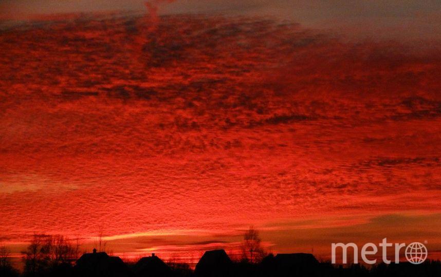 Пользователи Сети обсуждают кроваво-красный закат. Фото Вконтакте/Дмитрий Преснухин