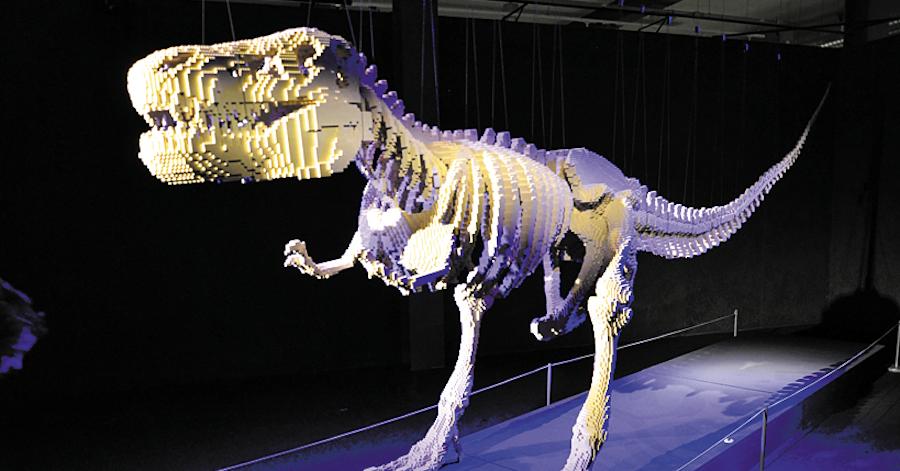 "Скелет тираннозавра перевозят, разделяя на куски. Фото Виктория Мельникова, ""Metro"""