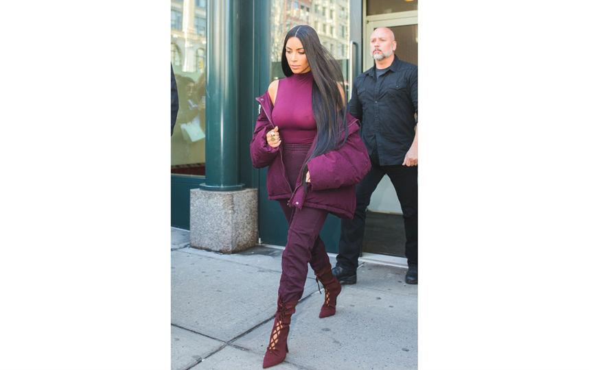 Ким Кардашьян в Нью-Йорке.