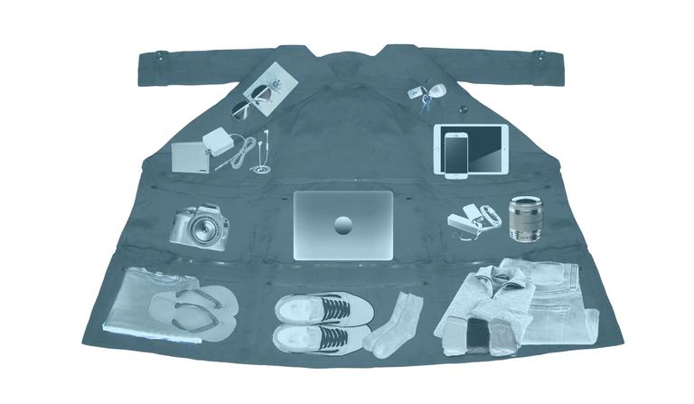 Пальто-трансформер Airport Jacket. Фото Скриншот со страницы Airport Jacket на Kickstarter.