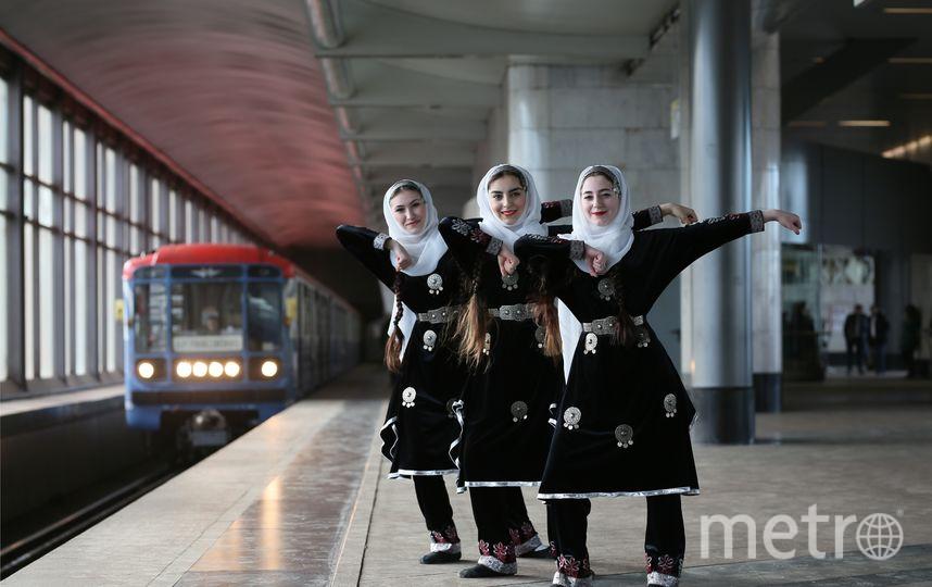 Участники церемонии открытия выставки. Фото пресс-служба московского метрополитена.