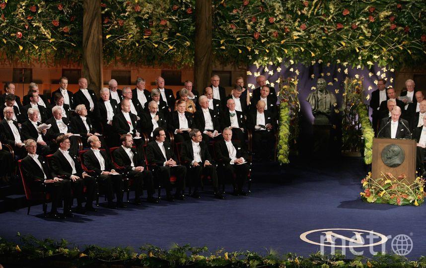 На вручении Нобелевской премии. Фото Getty