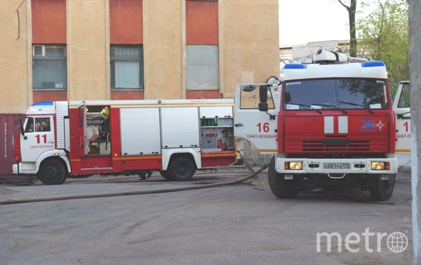 Распространение огня было остановлено. Фото МЧС Петербурга.
