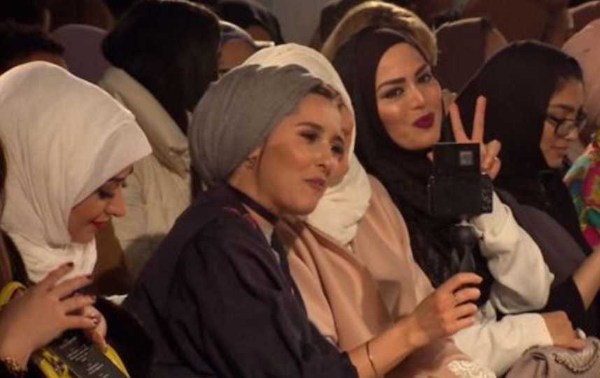 London Modest Fashion Week. Фото Скриншот с видеорепортажа SkyNews.
