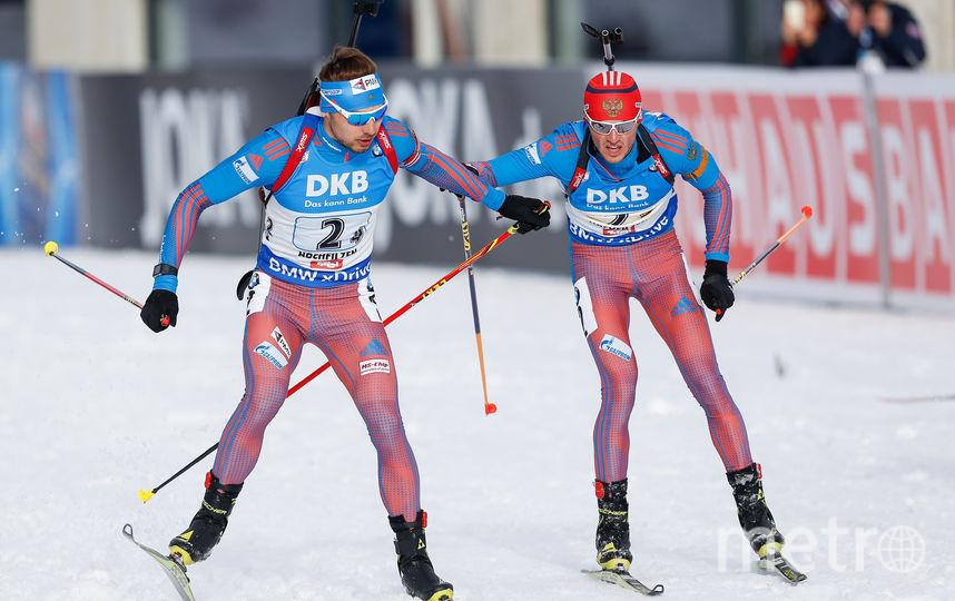 Российские биатлонисты Антон Шипулин и Антон Бабиков. Фото Getty