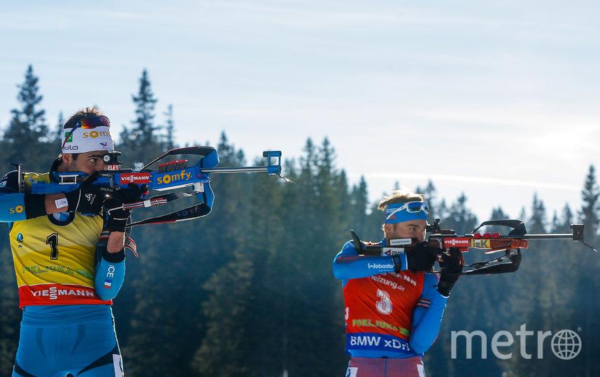 Лидеры мирового биатлона Антон Шипулин и Мартен Фуркад. Фото Getty