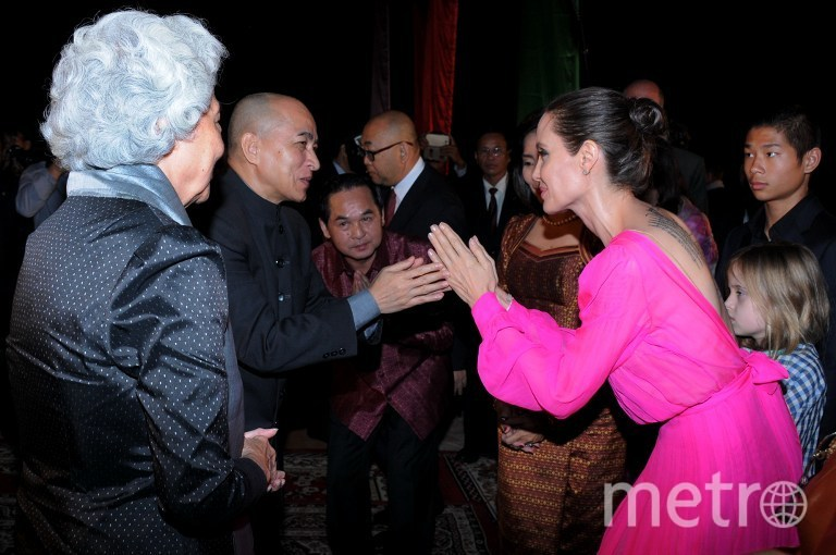 Анджелина Джоли в Камбодже. Фото AFP