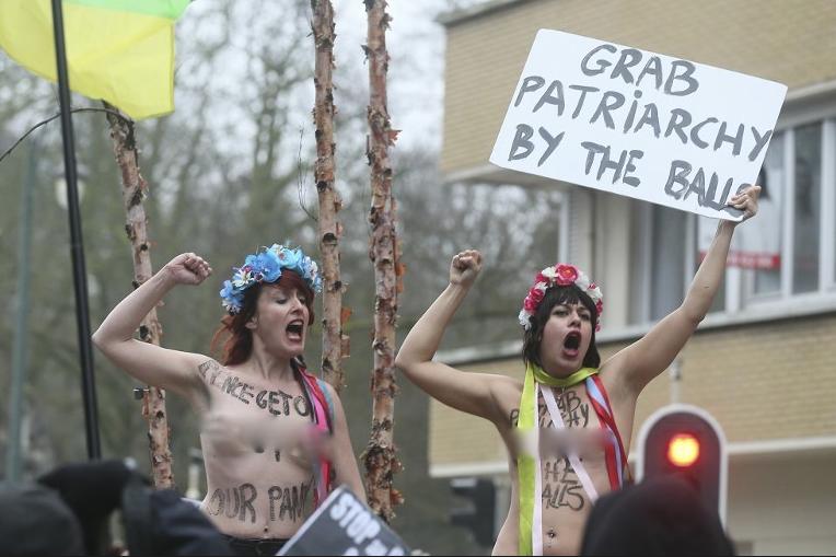 Протестующие в Бельгии. Фото AFP