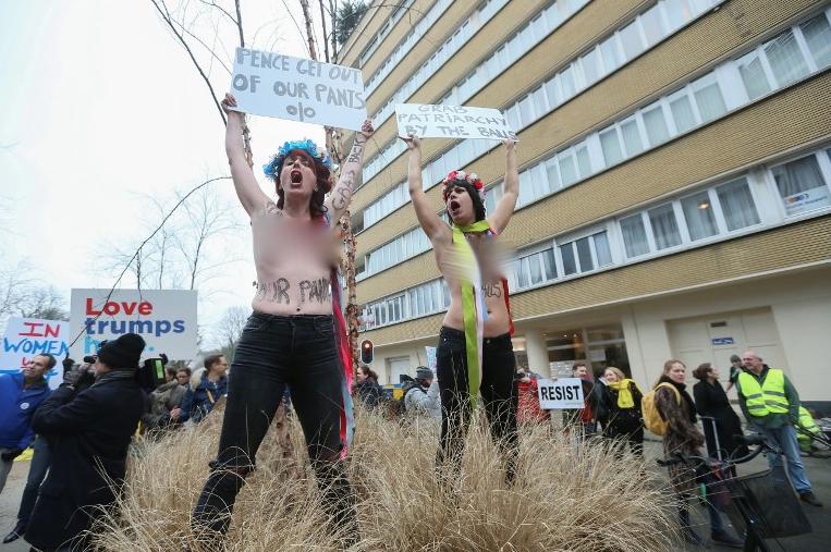 Участницы акции протеста. Фото AFP