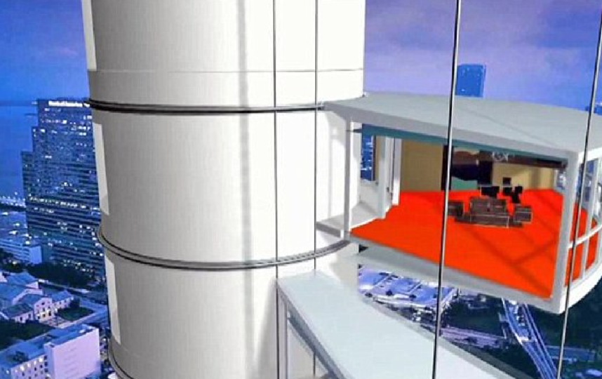 Вращающийся небоскреб. Фото Скриншот с YouTube канала Amazing World., Скриншот Youtube