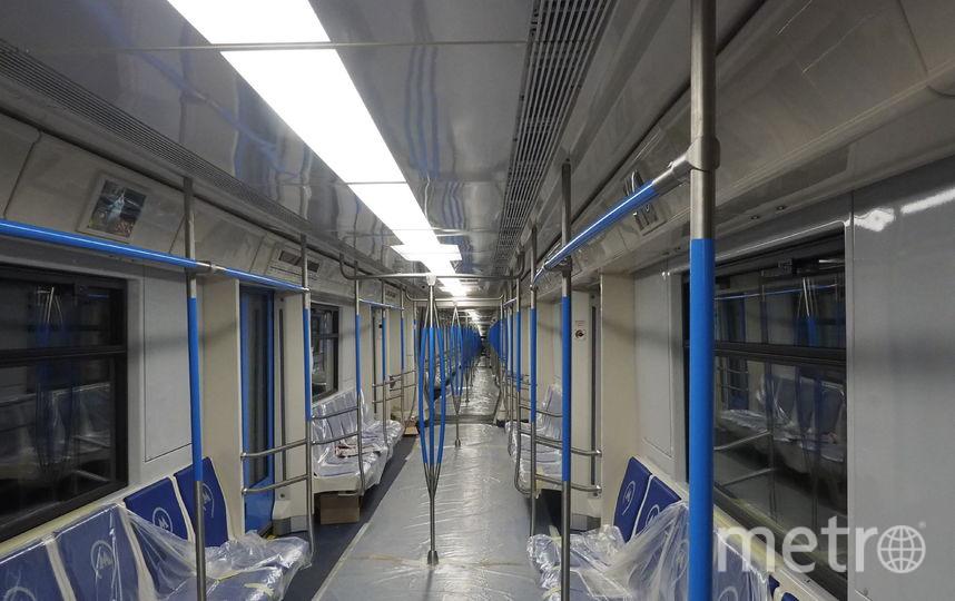 Внутреннее убранство поезда. Фото пресс-служба московского метрополитена.