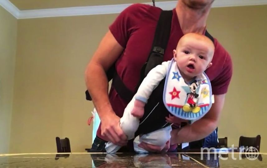 Видео с четырехмесячным танцором стало хитом Интернета. Фото Скриншот YouTube:Adam Ballard, Скриншот Youtube