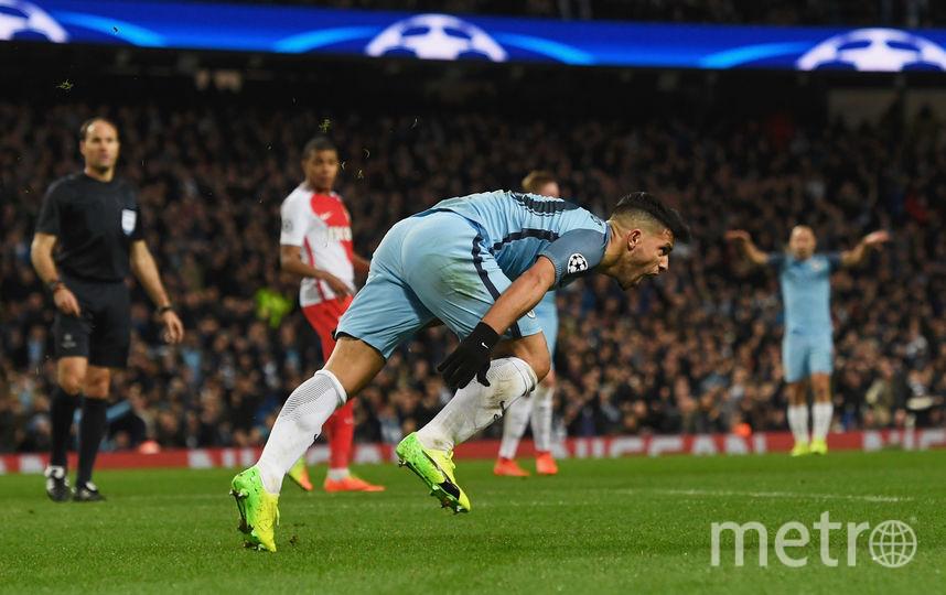 """Нападающий """"Манчестер Сити"""" Серхио Агуэро. Фото Getty"""