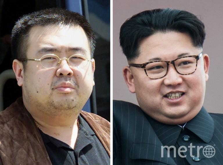 Ким Чен Нам и Ким Чен Ын. Фото AFP