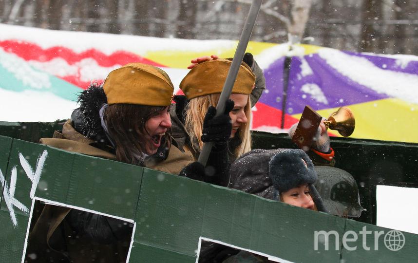 "Участники соревнований ""Battle-сани"". Фото Василий Кузьмичёнок, ""Metro"""