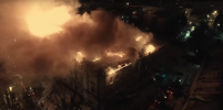 Пожар в детской больнице в Твери попал на видео