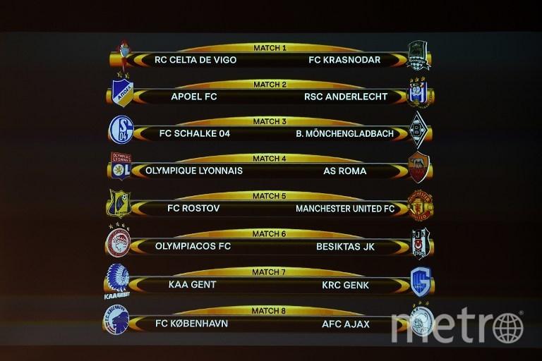 Результаты жеребьёвки 1/8 финала Лиги Европы. Фото AFP