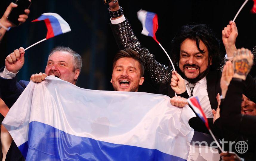 Сергей Лазарев впервые вывел сына на сцену в Петербурге. Фото Getty