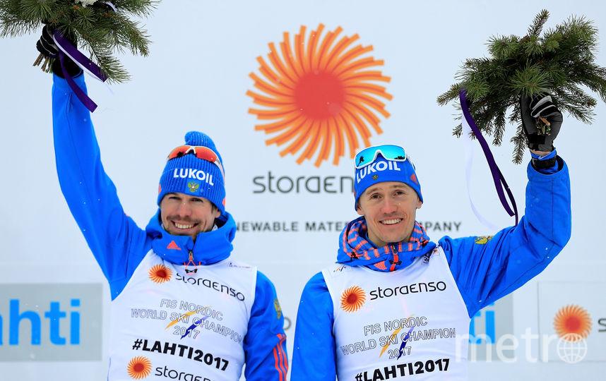 Российские лыжники Сергей Устюгов и Никита Крюков. Фото Getty