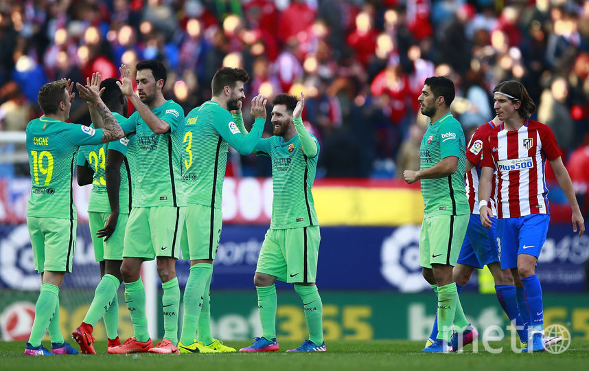 «Барселона» вырвала победу у«Атлетико» в основном матче чемпионата Испании