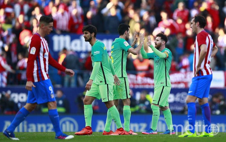 «Барселона» вырвала победу у«Атлетико» вчемпионате Испании