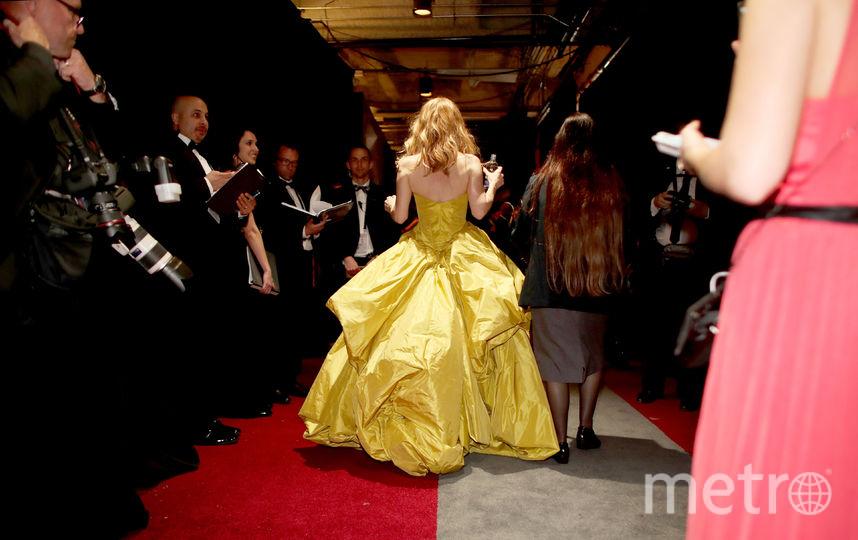 Актриса Лесли Манн за кулисами церемонии. Фото Getty