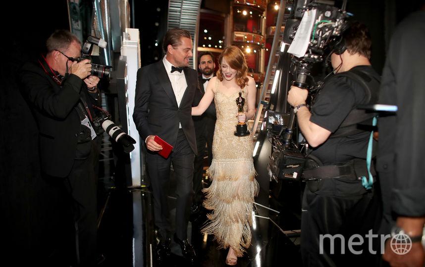 Эмма Стоун и Леонардо Ди Каприо. Фото Getty