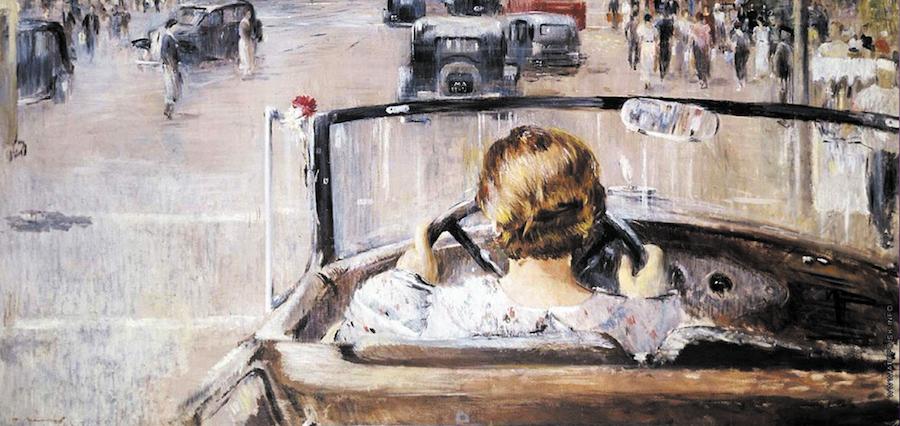 Пименов Юрий (Георгий) Иванович, «Новая Москва». 1937, Холст, масло. Фото Из собрания государственной третьяковской галереи