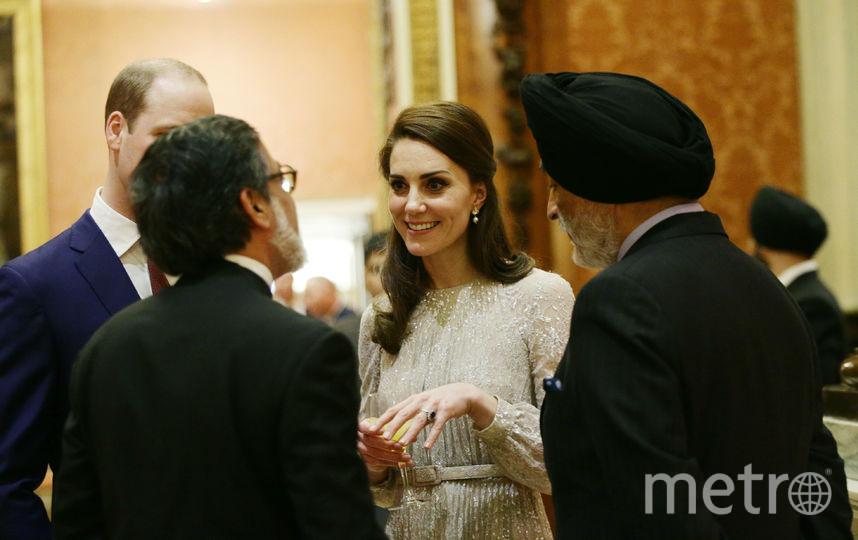 Кейт Миддлтон на индийском приёме. Фото Getty